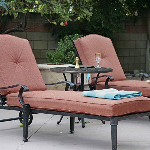 Wondrous Darlee Charleston 3 Piece Cast Aluminum Patio Chaise Lounge Interior Design Ideas Inesswwsoteloinfo
