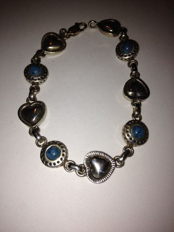 #Lapis #Sterling #HeartBracelet #lapisbracelet #lapislazuli #bracelet #vintagejewelry #southwesternjewelry http://etsy.me/1EqsNAj