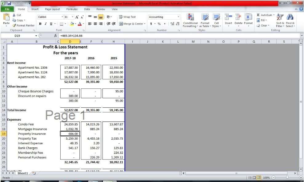 bookkeeping financial statements ms excel in 2020 income statement chart of accounts earnings from hm revenue & customs