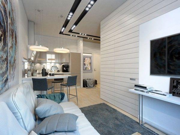 Extrem Kleine Zweiraumwohnung Mit Schickem Interior Design In Weiß