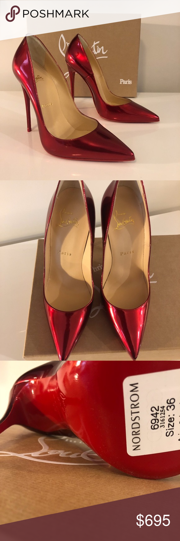reputable site b7f2d f2492 So Kate Metallic Red Christian Louboutins Too small for me ...