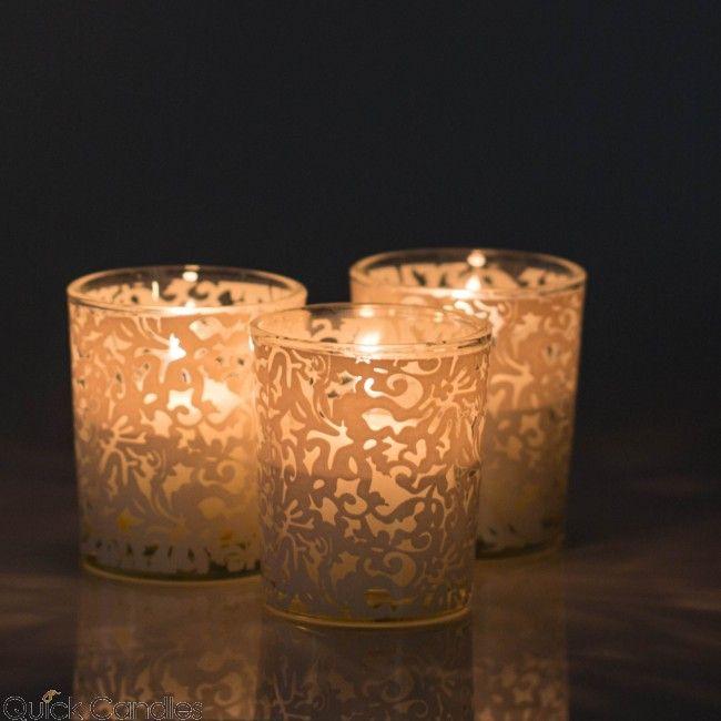 Richland Lace Design Votive Candle Holder Set Of 72 Candle Holders Lace Candle Holders Votive Candles Wedding