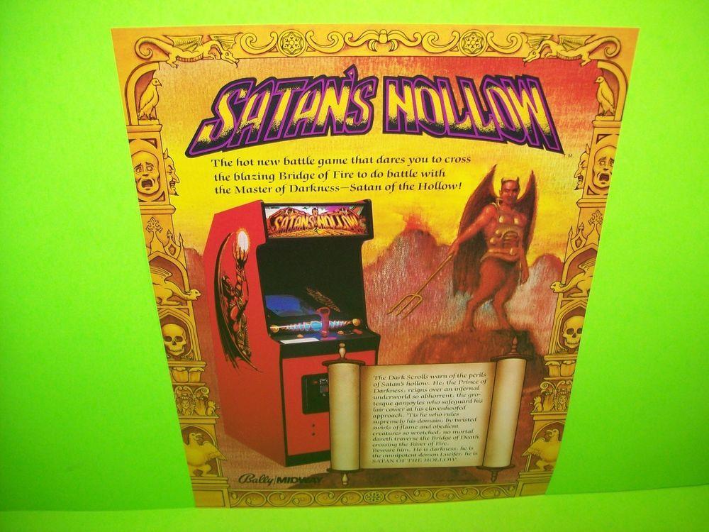 Midway SATAN'S HOLLOW 1982 Original NOS Video Arcade Game