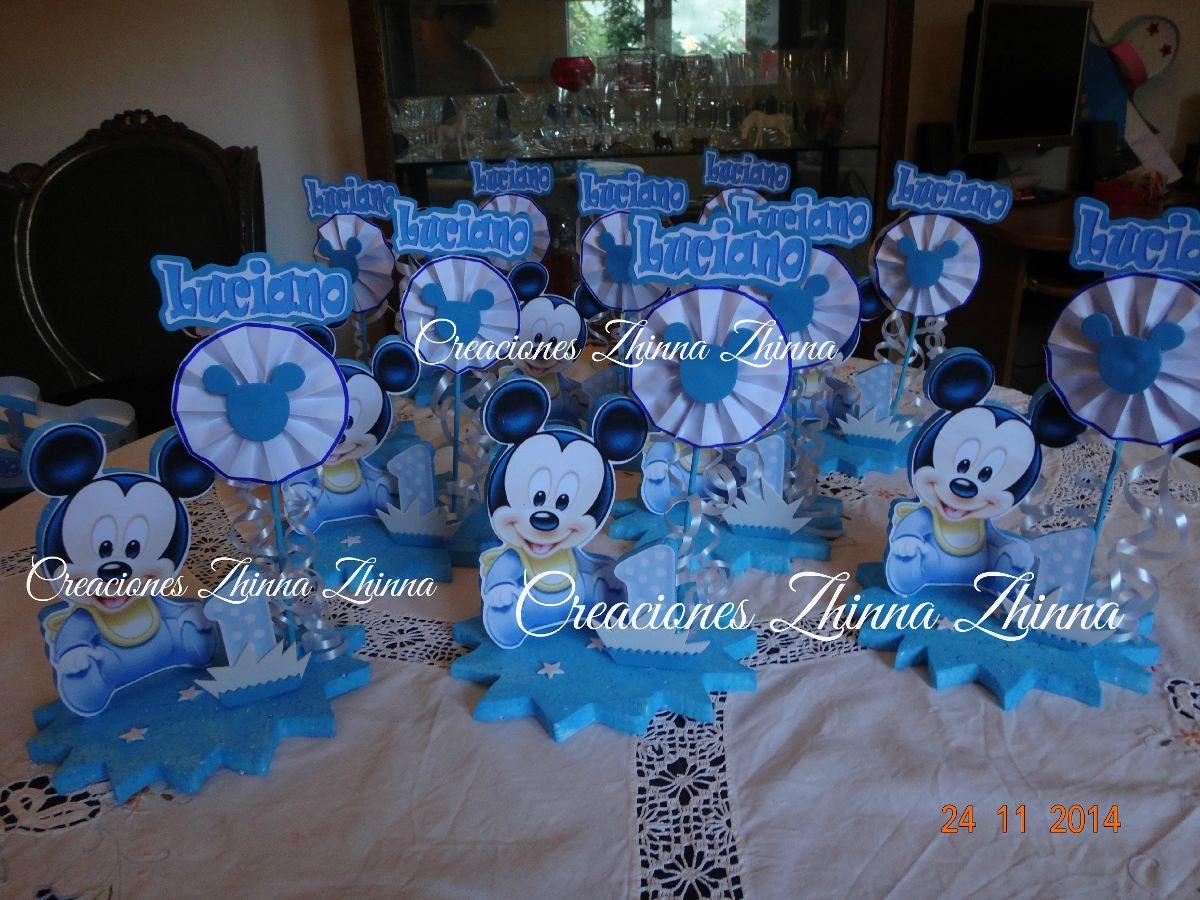 Czhinna centro mesa mickey bebe cotillon tematico adornos - Cumpleanos de bebes ...