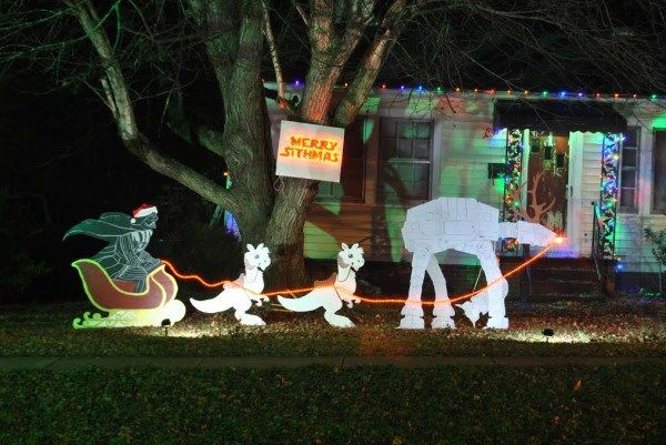 merry sithmas how we made our own star wars christmas lawn ornaments offbeathome - Star Wars Christmas Yard Decorations
