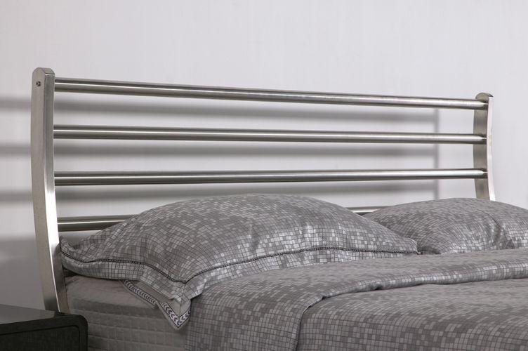 Cama de lujo de metal de acero inoxidable cama cama de hierro ...