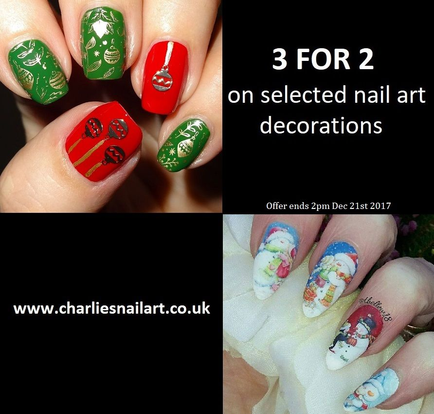 3 FOR 2 on selected nail art items at www.charliesnailart.co.uk ...