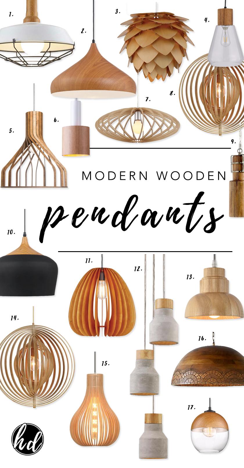 Affordable Modern Wooden Pendant Lights