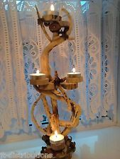 Driftwood Tea Light Candle Holder Shabby Chic Natural Table Centre Pieces