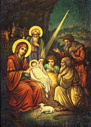 The Birth Of Jesus Common Greek Christmas Icon Amen Those