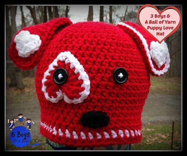 Ravelry: Puppy Love crochet pattern by: 3 Boys & A Ball of Yarn
