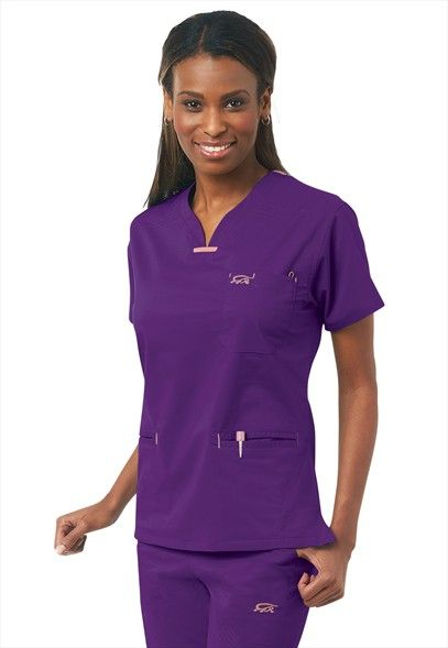 3e5672f0457 IguanaMed quattro scrub top. Because purple makes me happy... | This ...