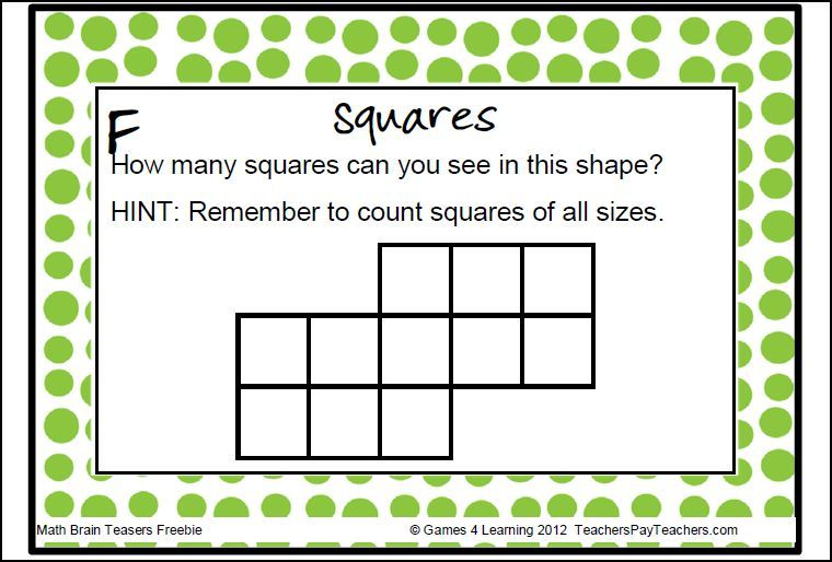 Math Task Cards Math Problems And Math Brain Teasers Freebie Brain Teasers Math Fun Math