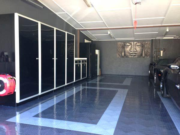 Black Moduline Aluminum Garage Storage Cabinets In Australia