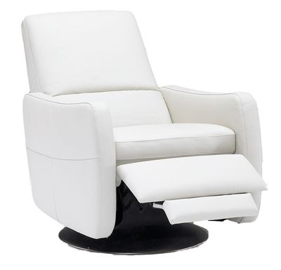 Contemporary Swivel Recliner Chairs Modern Chairs White Leather