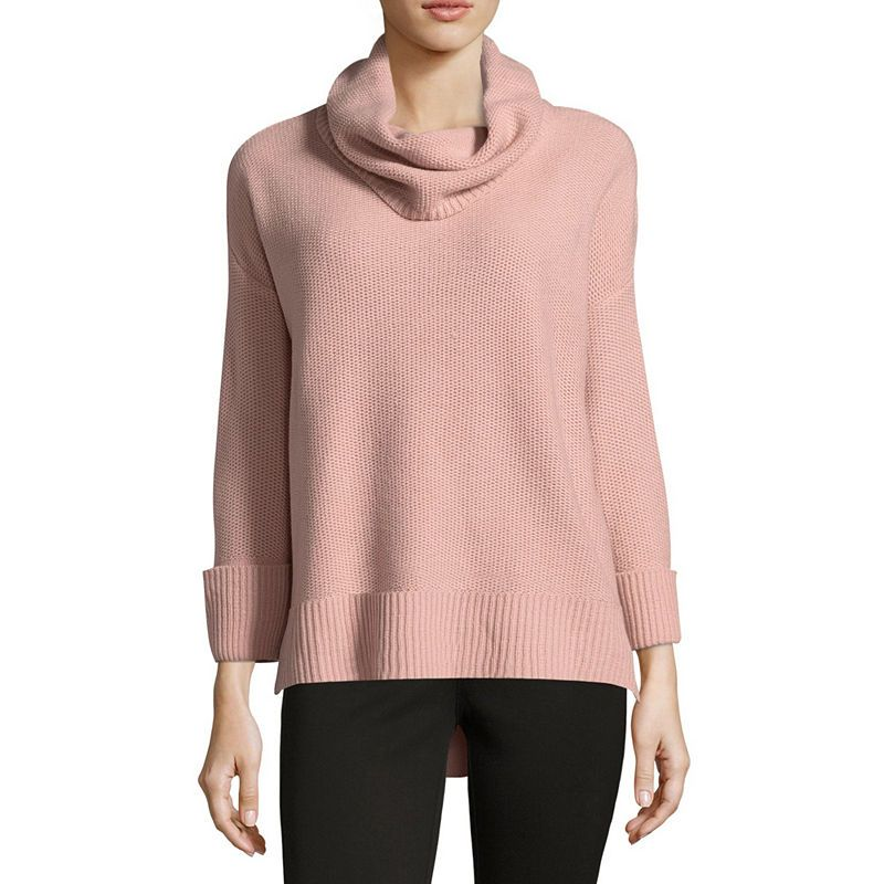 66463d38b4 Liz Claiborne Long Sleeve Cowl Neck Pullover Sweater - Tall ...