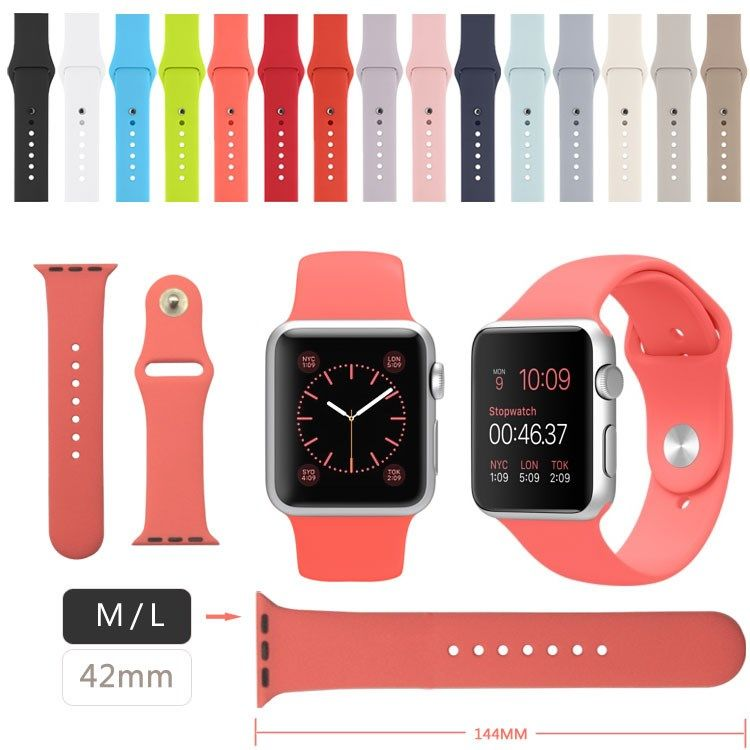 Multicolor Silicone Bands For Apple Watch 15 Colors Cheapest