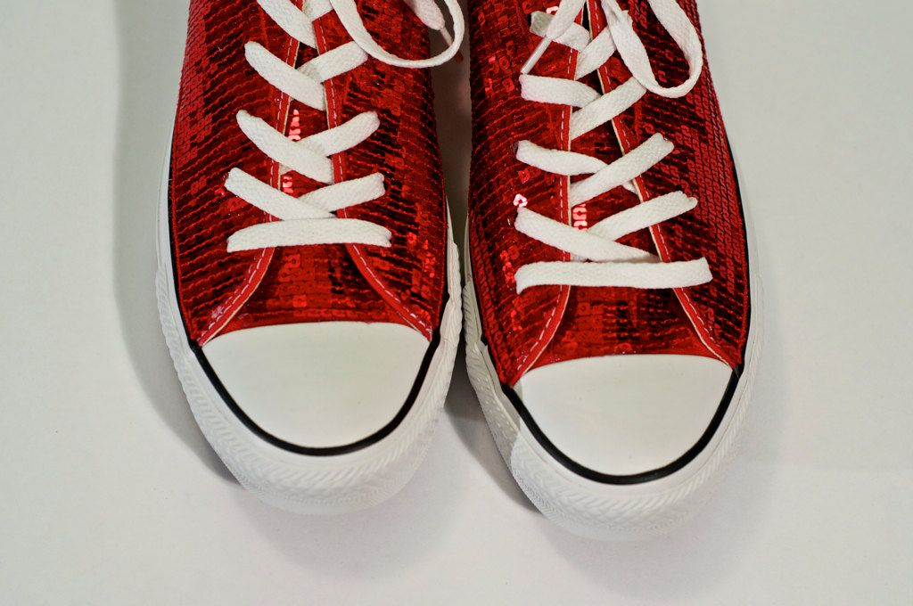 89a4dc7bf631 Ruby Red Sequin Converse All Star by princesspumps on Etsy, $99.99 ...