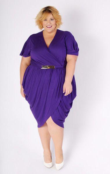 Plus Size Clothing for Women - Jessica Kane Amethyst Tulip Dress ...