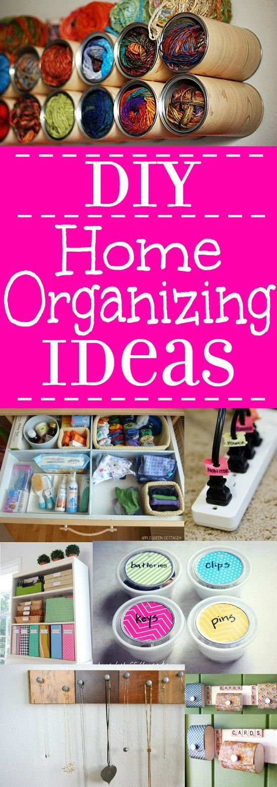 cute home organizing ideas. DIY Home Organization Ideas  Use these amazing and helpful Organizing to stay
