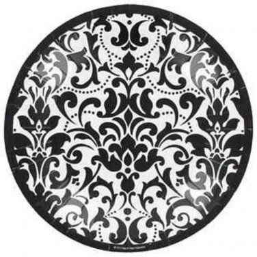 Bag-of-Chips Small Black u0026 White Round Damask Plates  sc 1 st  Pinterest & Shift+R improves the quality of this image. Shift+A improves the ...