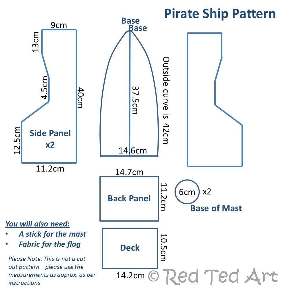 Pirate ship dimensions | Pinterest | Cardboard pirate ships, Diy ...