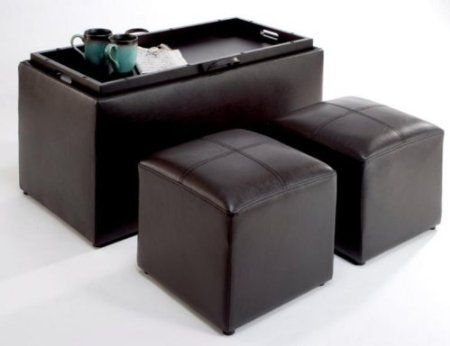 This Ottoman Features Storage For Twin Smaller Units Inside In
