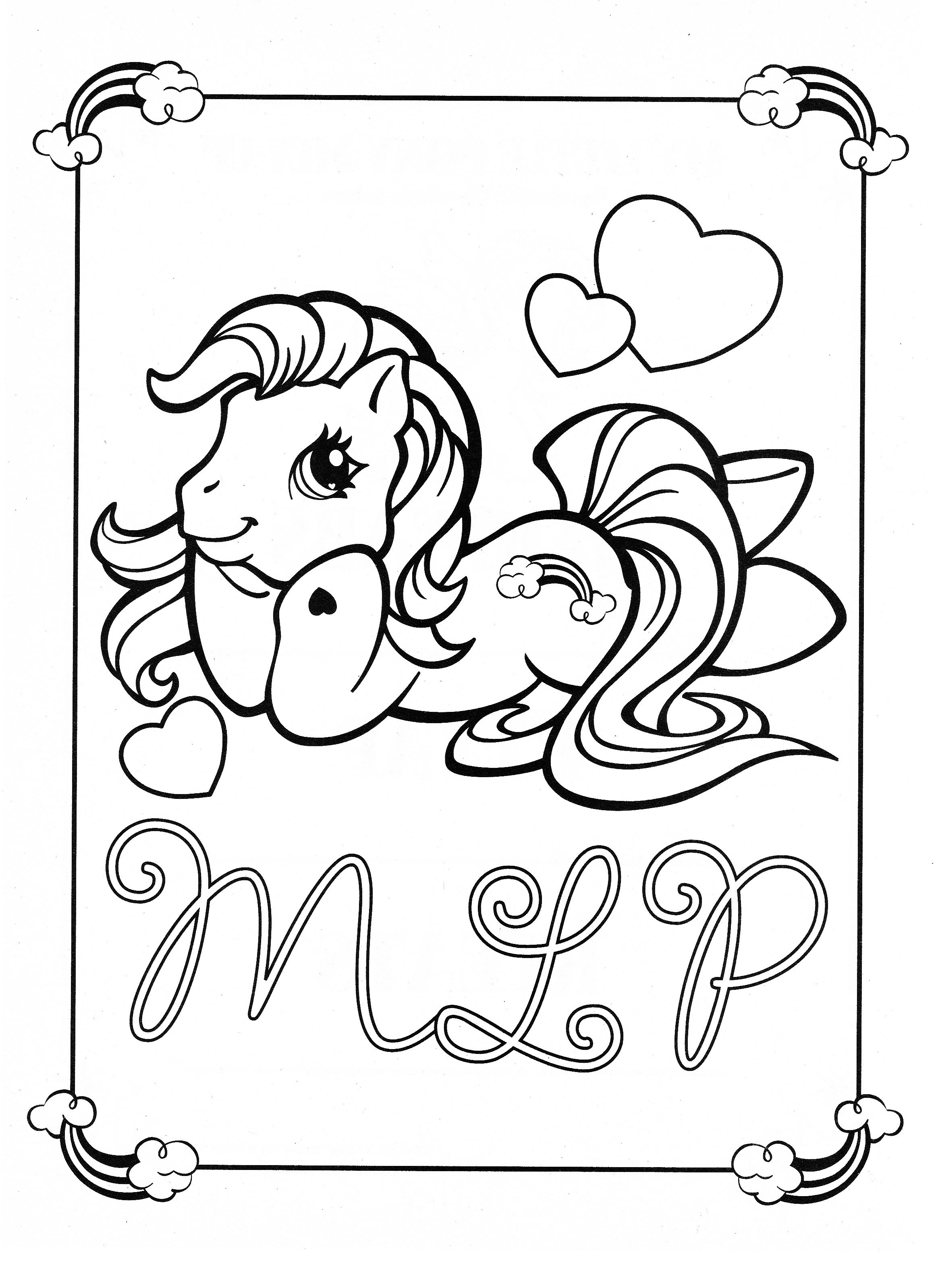 My Little Pony coloring page MLP - Rainbow Dash | Coloring pages ...