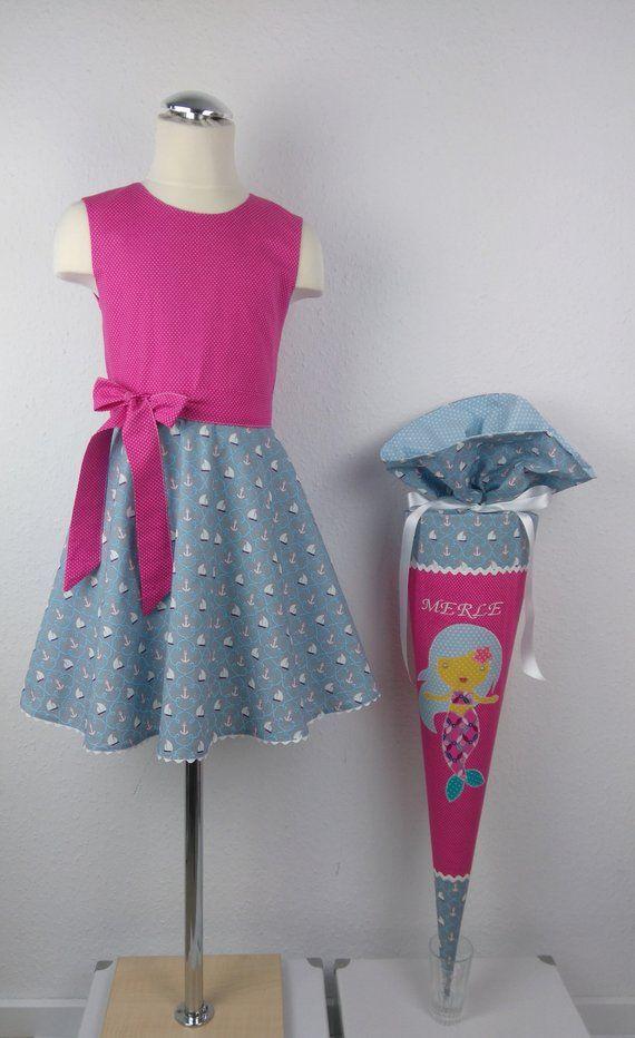 Photo of Set di zaini e abiti da scuola fatti a mano, blanhling con cuscini, vestito da iscrizione, abito estivo per ragazze, cartone bianco, abito, bustina di zucchero
