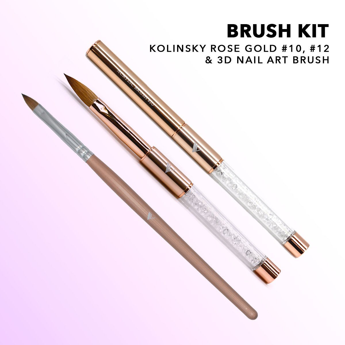 Acrylic Brush Kit Nail Tools Valentino Beauty Pure Brush Kit