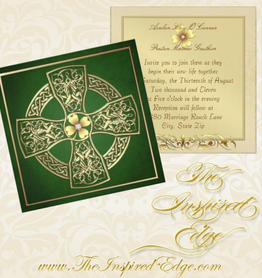 irish celtic cross wedding invitation | celtic wedding and irish,