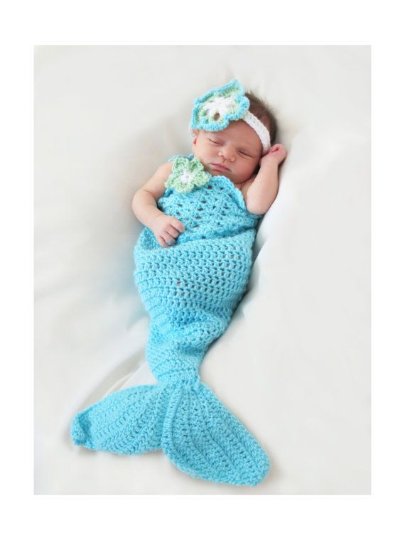Mermaid Tail Crochet Pattern - Newborn to 5T - Mermaid Photo Prop ...