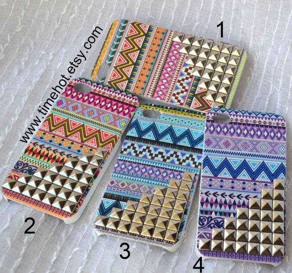 Aztec Tribal Silver Pyramid Studded iphone 44s by timehot on Etsy, $12.99 #wishlist #phonecase
