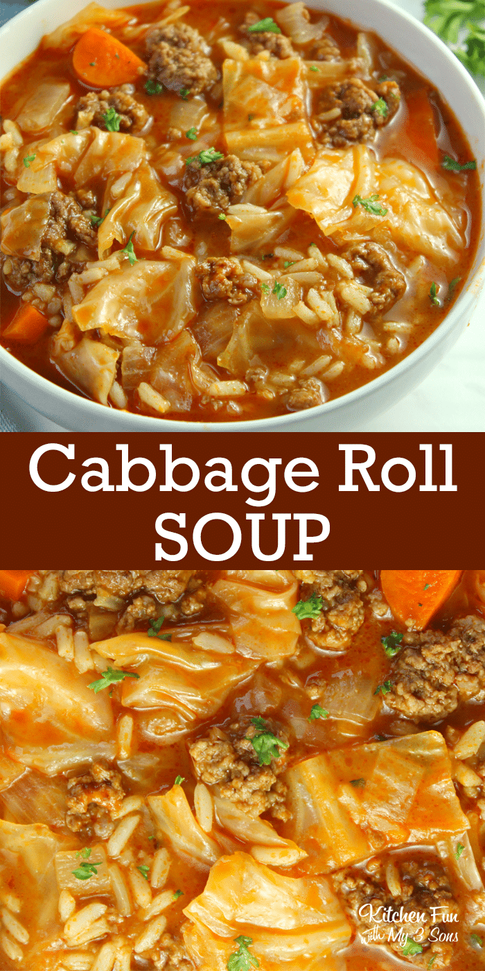 Cabbage Roll Soup Recipe – Kitchen Fun With My 3 Sons