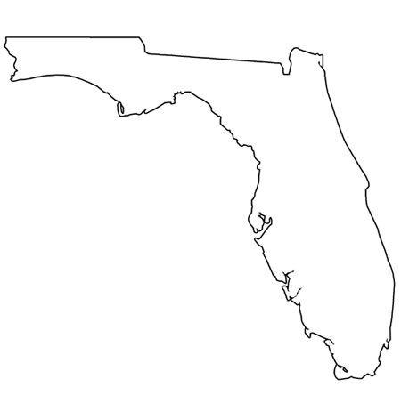 Florida Printable Shapes Map Of Florida State Shape Art