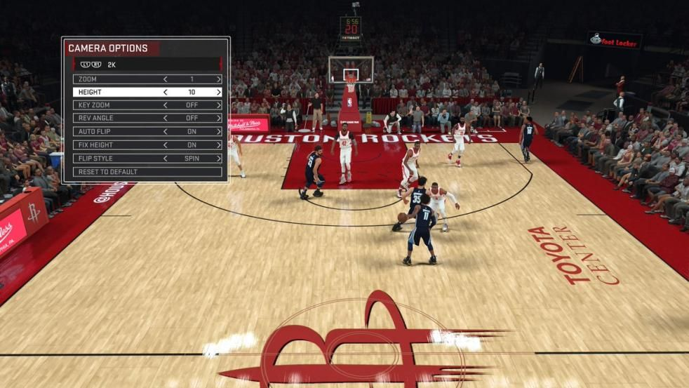 NBA2K18 Optimal Camera Settings Camera settings