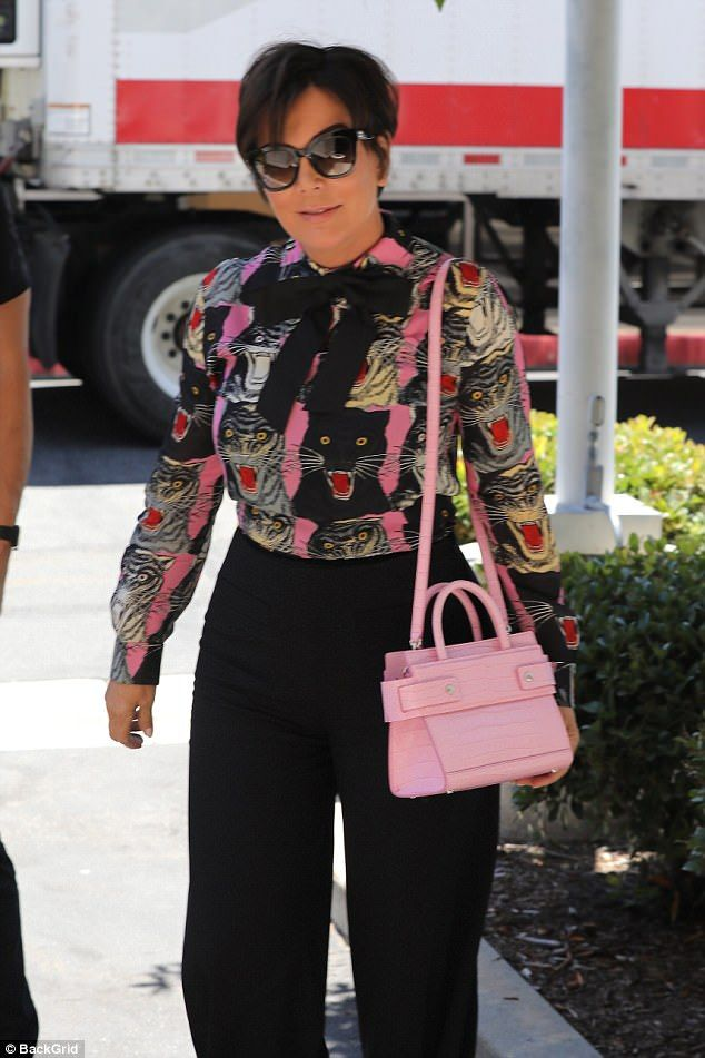 b31cd206a7 Kris Jenner shows wild side in cat-patterned shirt while filming KUWTK