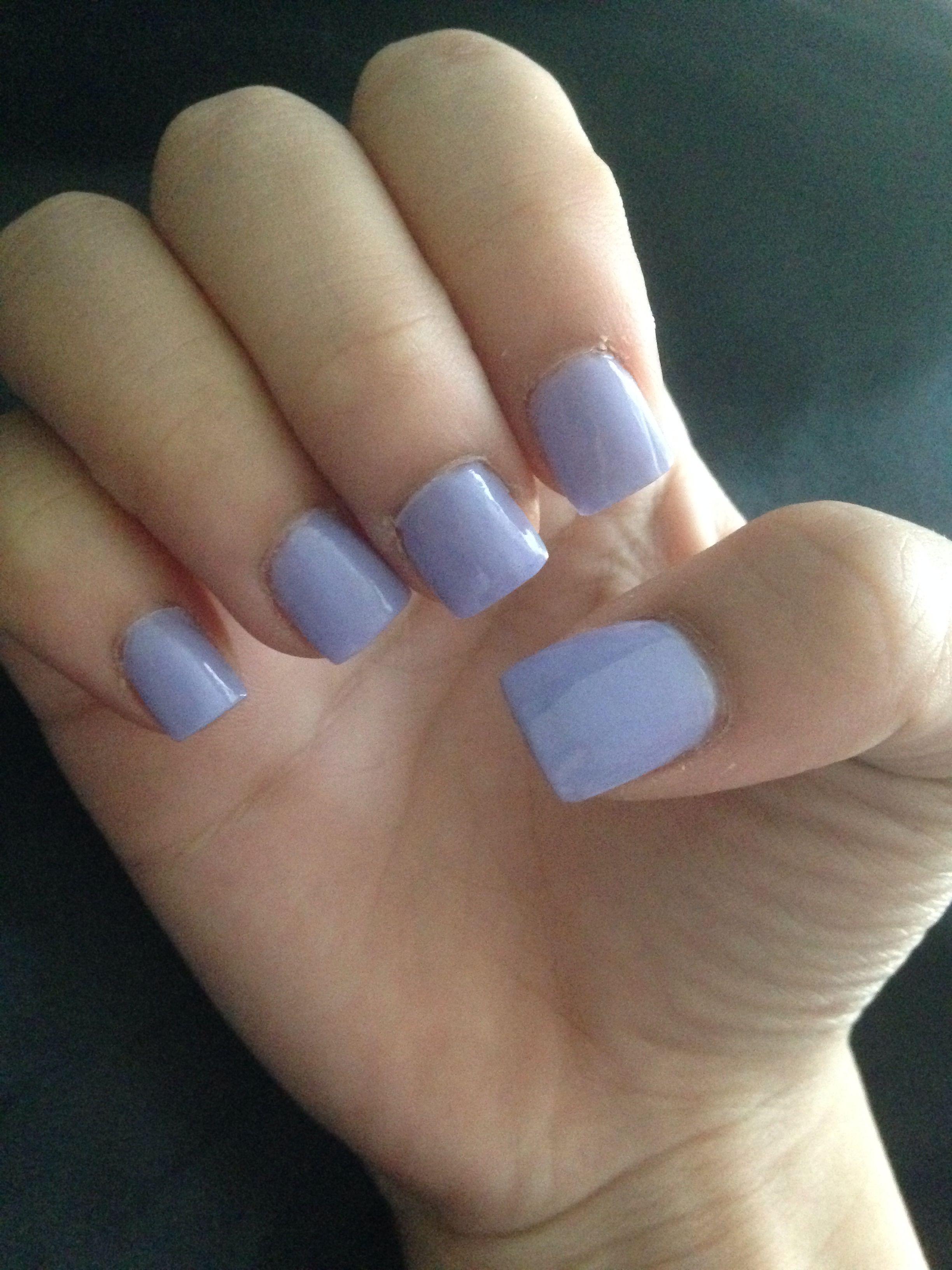 Acrylic Cute Simple Short Purple Pastel