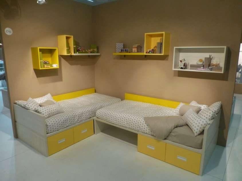 Colori camera da letto bambini - Camera bambini con pareti senape ...
