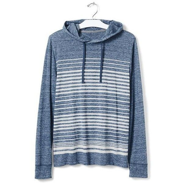 Banana Republic Mens Vintage Stripe Hoodie ($45) ❤ liked on Polyvore featuring men's fashion, men's clothing, men's hoodies, mens sweatshirts and hoodies, mens hooded sweatshirts, mens hoodies and mens hoodie