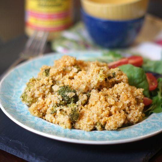 Cheesy Broccoli Quinoa Casserole Vegan Recipe Broccoli Quinoa Casserole Vegan Casserole Food Recipes