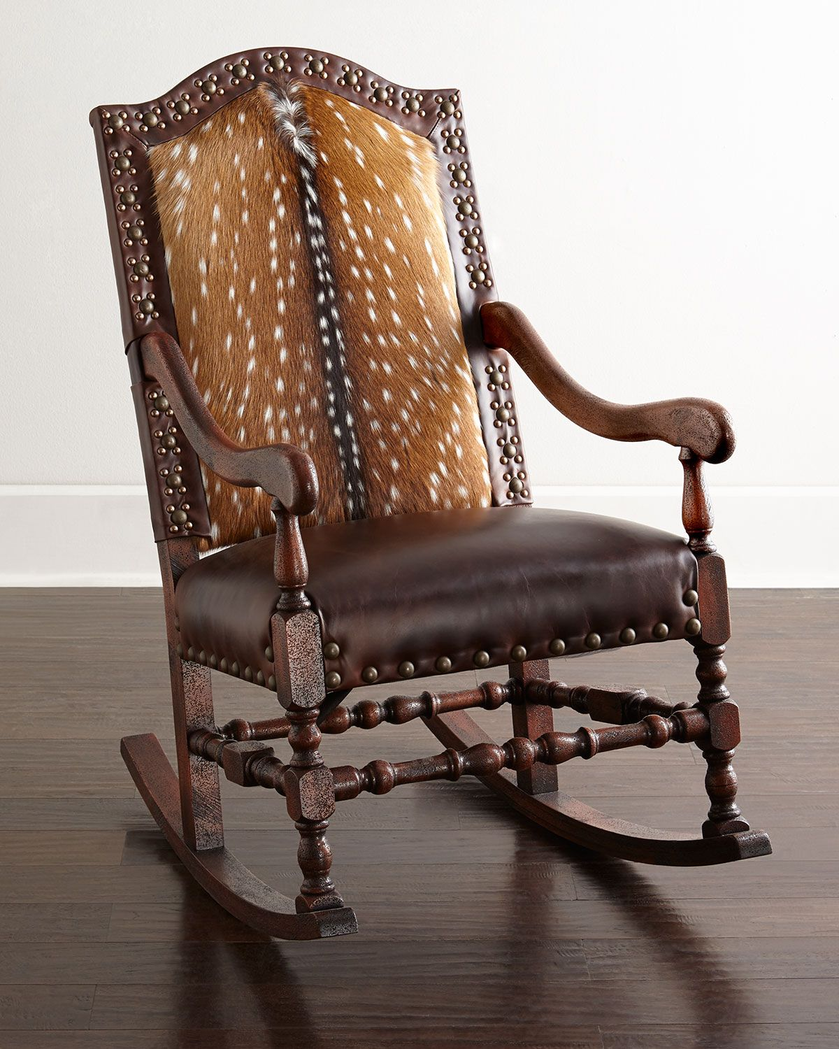 Jefferson Rocking Chair By Old Hickory Tannery At Neiman Marcus  # Muebles Hickory