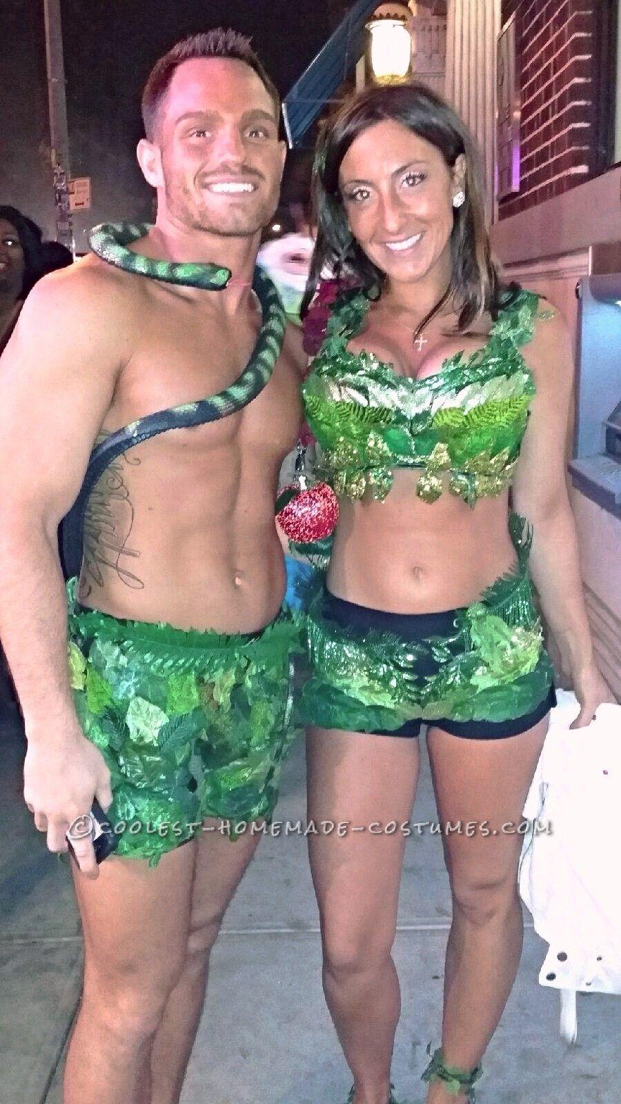 Sexy Adam and Eve Couple Halloween Costume… Coolest Halloween Costume Contest