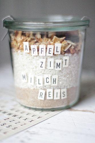 Milchreis To Go Fur Kranke Freunde Recipes Essbare Geschenke