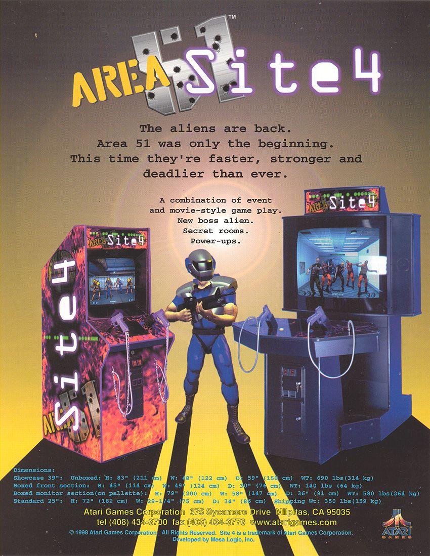Area 51 Site 4 Archive video, Arcade, Atari games