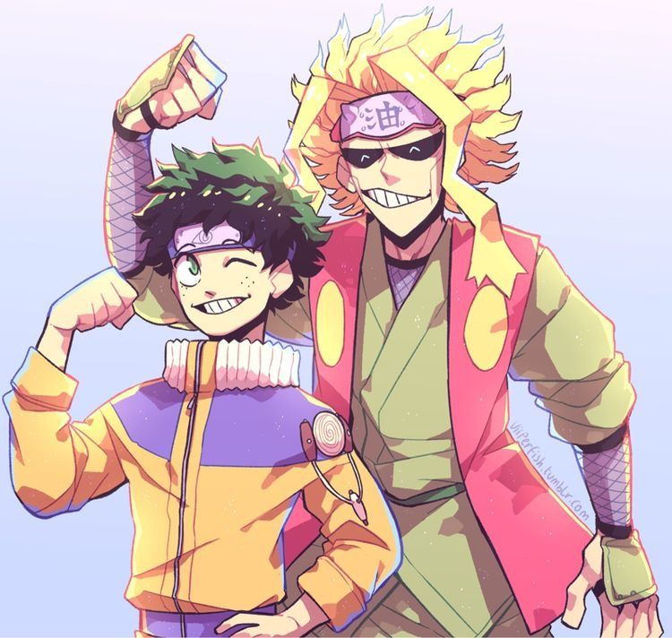 All Might & Deku dress as Naruto & Jiraiya   Personajes de ...