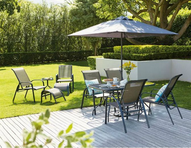 andorra bronze metal 11 piece garden furniture set home delivery