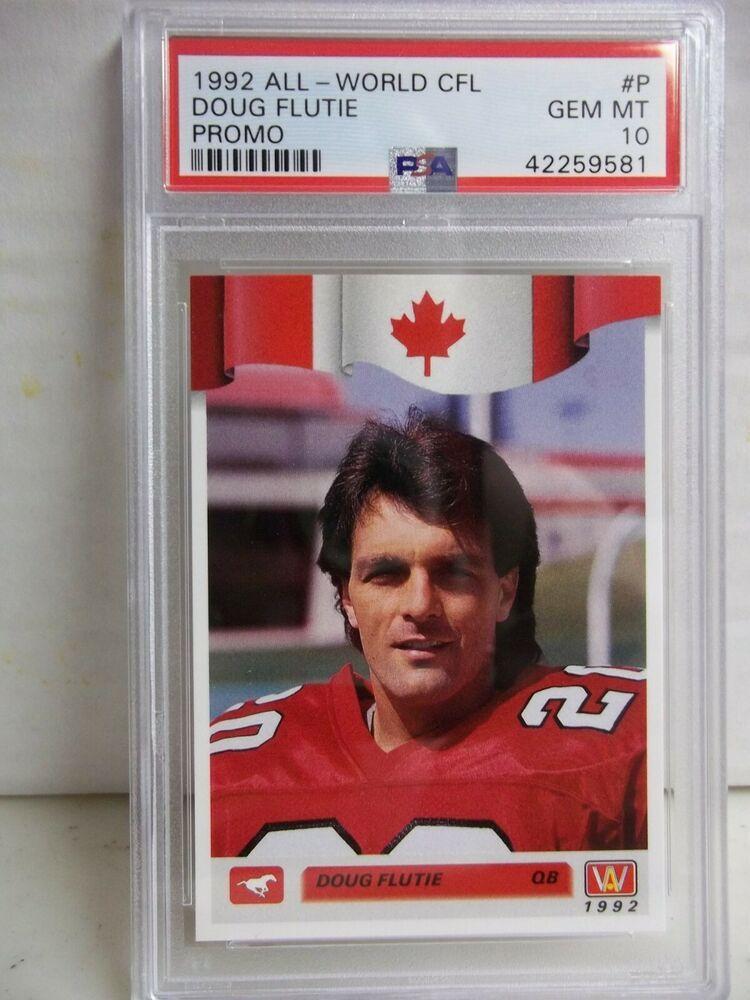1992 AllWorld CFL Doug Flutie PSA Gem Mint 10 Football