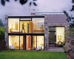 Contemporary Stone Small Home Design Ideas