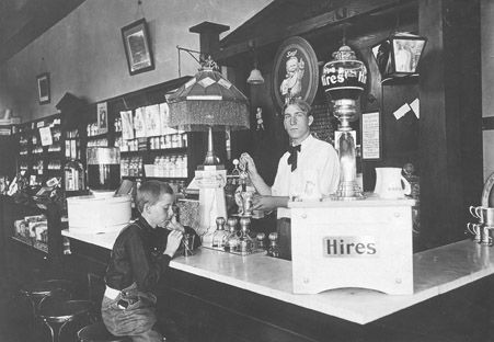 Soda fountain at dittmer 39 s mission pharmacy 1905 for Old fashioned pharmacy soda fountain